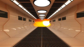 Futuristic interior and sun Royalty Free Stock Images