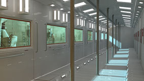Futuristic Interior Underground And Scifi City Stock Image