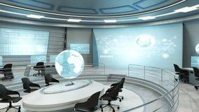 Futuristic interior view Stock Image
