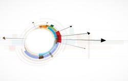 Futuristic internet computer technology business stock illustration