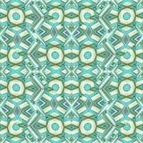 Futuristic Intricate Geometric Seamless Pattern Stock Image
