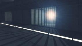 Futuristic jail corridor Royalty Free Stock Image