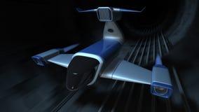 Futuristic jet stock video footage