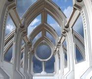 futuristic kapell vektor illustrationer