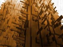 futuristic konstruktionsfantasi Arkivfoto