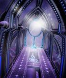 futuristic korridor vektor illustrationer