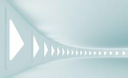 futuristic korridor royaltyfri illustrationer