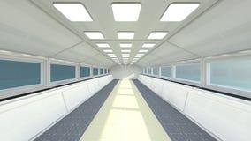 futuristic korridor Arkivfoto