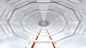 futuristic korridor Arkivbilder