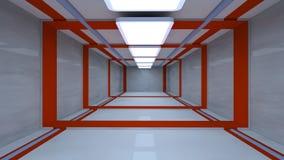 futuristic korridor Royaltyfria Foton