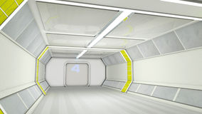 futuristic korridor Royaltyfri Bild