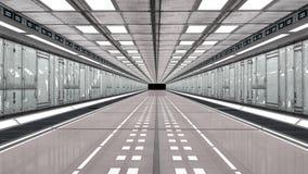 futuristic korridor 3d Royaltyfri Foto