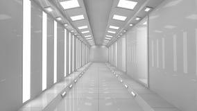 futuristic korridor 3d Fotografering för Bildbyråer