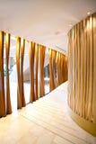 Futuristic korridor i korridoren Arkivbilder