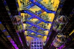 futuristic korridorgalleria Arkivbilder