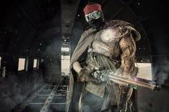 Futuristic krigare arkivfoton