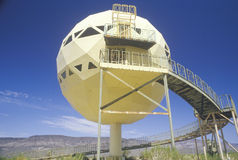 Futuristic kupolhus Arkivfoton