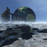 Futuristic landscape Stock Photo