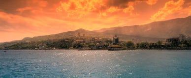 Futuristic landscape of Yalta Stock Images