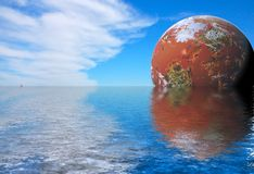 Futuristic landskap royaltyfria foton