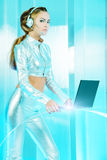 Futuristic laptop Royalty Free Stock Photos