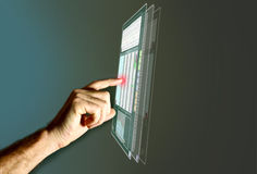Futuristic LCD Panel Stock Image