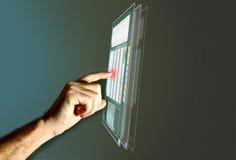 futuristic lcd-panel Fotografering för Bildbyråer