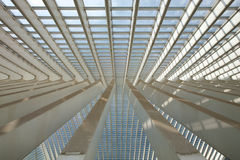Futuristic Liege-Guillemins railway station Royalty Free Stock Image