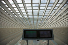 Futuristic Liege-Guillemins railway station Royalty Free Stock Photos