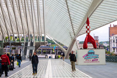 Futuristic Liege-Guillemins railway station Stock Photography