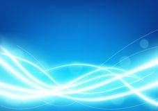 Futuristic light blue line glowing background Royalty Free Stock Images