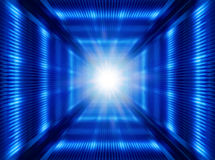 Futuristic light in tunnel Stock Photo