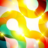 Futuristic lights. Colorful lights abstract background template Stock Photography