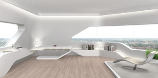 Futuristic living room interior Royalty Free Stock Photography
