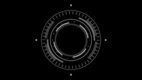 Futuristic Lock-On Target HUD. Sci Fi Futuristic User Interface HUD Lock on Target stock footage