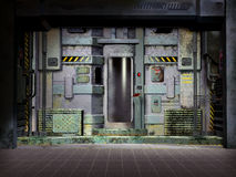 futuristic lokalspaceship Arkivbilder