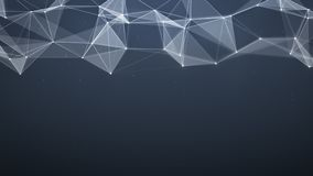 Network low poly shape with triangles and lines abstract 3D rend Stock Images