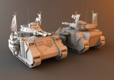 Futuristic Main Battle Tank Royalty Free Stock Image