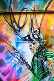 Futuristic man graffiti Stock Photography