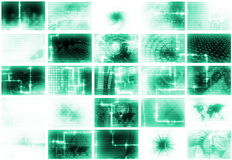 Futuristic Media Abstract Background Royalty Free Stock Photo