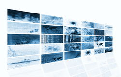 Futuristic Media Abstract Background Stock Image