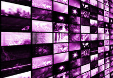 Futuristic Media Abstract Background Royalty Free Stock Photography