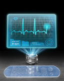 Futuristic medical computer Royalty Free Stock Photo