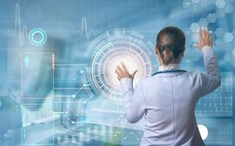 Futuristic medical concept royalty free stock photography