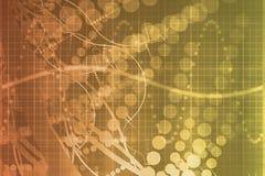 futuristic medicinsk orange vetenskapsteknologi för abstr royaltyfri illustrationer