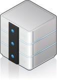 Futuristic Medium Server Rack Stock Image