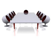 Futuristic meeting room Royalty Free Stock Images