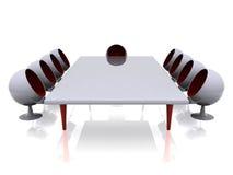 Futuristic meeting room stock illustration