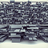 Futuristic Megalopolis City Of Boxes. 3D Illustration Of Futuristic Megalopolis City Of Boxes royalty free illustration
