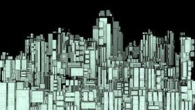 Futuristic Megalopolis City Of Skyscrapers Stock Images